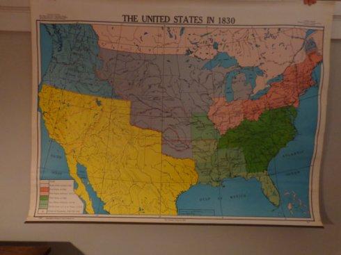 $40 vintage pull down school map